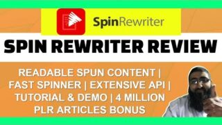 Spin Rewriter Review | Demo | Tutorial | Discount | Massive Bonus Pack