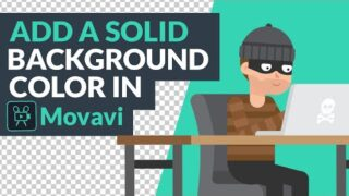 How to Add a Solid Background Color in Movavi Video Editor